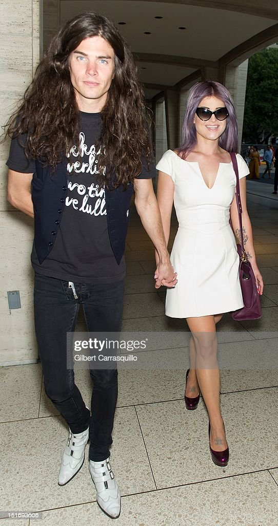 <a gi-track='captionPersonalityLinkClicked' href=/galleries/search?phrase=Kelly+Osbourne&family=editorial&specificpeople=156416 ng-click='$event.stopPropagation()'>Kelly Osbourne</a> (R) and Boyfriend Matthew Mosshart is seen around Lincoln Center during Spring 2013 Mercedes-Benz Fashion Week on September 9, 2012 in New York City.