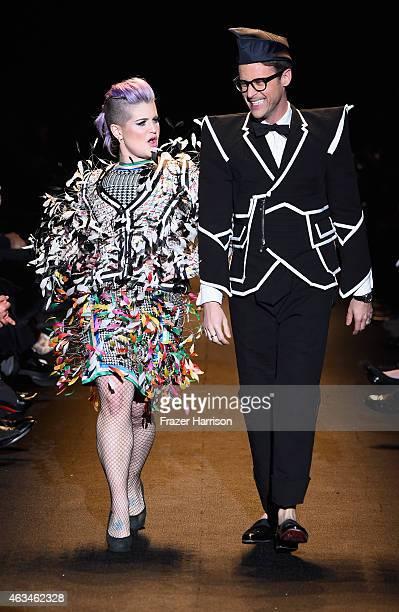 Kelly Osbourne and Brad Goreski walk the runway at Naomi Campbell's Fashion For Relief Charity Fashion Show during MercedesBenz Fashion Week Fall...