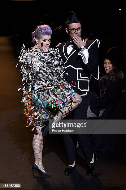 Kelly Osbourne and Brad Goreski walk the runway at Naomi Campbell's Fashion For Relief Charity Fashion Show during MercedesBenz Fashion Week Fall...