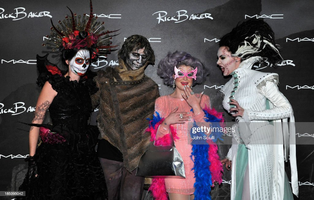 Kelly Osbourne (2nd from R) and guests attend MAC Cosmetics and Rick Baker's Monster Mash on October 19, 2013 in Glendale, California.