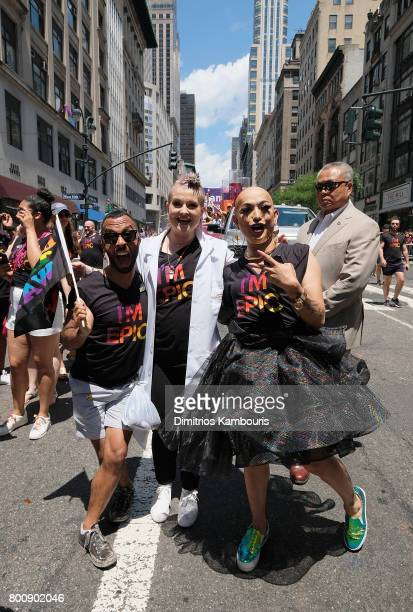 Kelly Osbourne and guests attend the New York City Gay Pride 2017 march on June 25 2017 in New York City