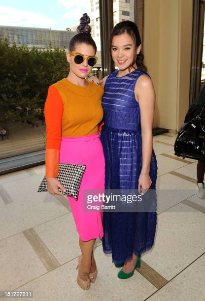Kelly Osbourne and Hailee Steinfeld attend the Chris Benz runway show at the Spring 2013 MercedesBenz Fashion Week at Avery Fisher Hall Lincoln...