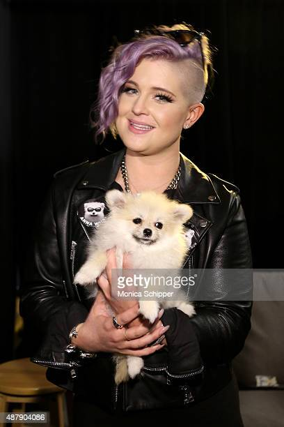 Kelly Osbourne and her dog Poppy at Francesca Liberatore Spring 2016 during New York Fashion Week The Shows at The Dock Skylight at Moynihan Station...