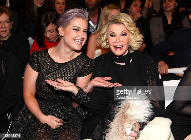 Kelly Osbourne and Joan Rivers attend the Badgley Mischka Fall 2012 fashion show during MercedesBenz Fashion Week at The Theatre at Lincoln Center on...