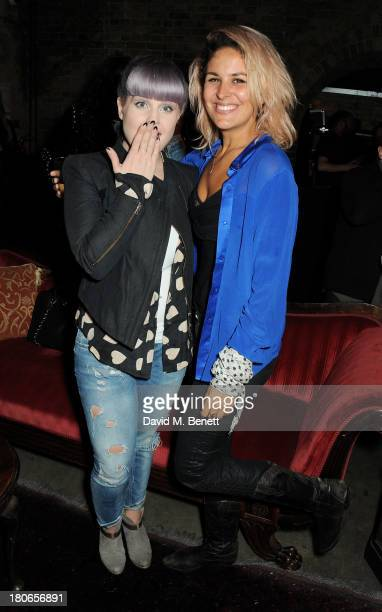 Kelly Osbourne and Lliana Bird attend a party hosted by Equipment celebrating the release of 'Paris Spleen The Kills Live At L'Olympia' during London...