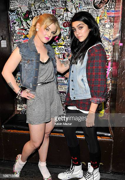 Kelly Osbourne and Lola Leon behind the scenes at the 'Material Girl' photo shoot on January 19 2011 in New York City 'Material Girl' is available at...