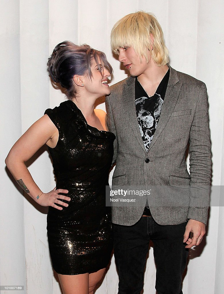 Kelly Osbourne (L) and Luke Worrall attend the Charity Clothing Drive Benefiting 'My Friend's Place' hosted by Kelly Osbourne at Mi6 on May 26, 2010 in West Hollywood, California.