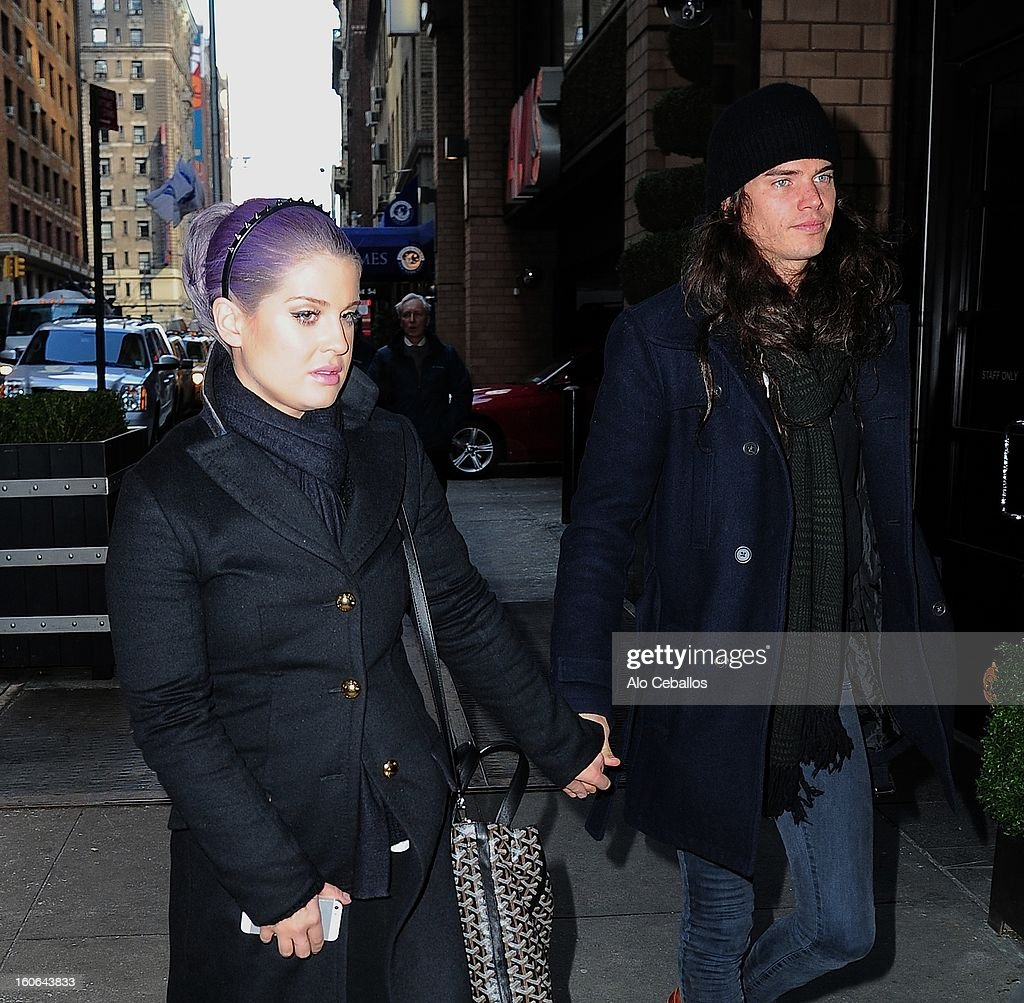 Kelly Osbourne and Matthew Mosshart are seen in Midtown on February 4, 2013 in New York City.