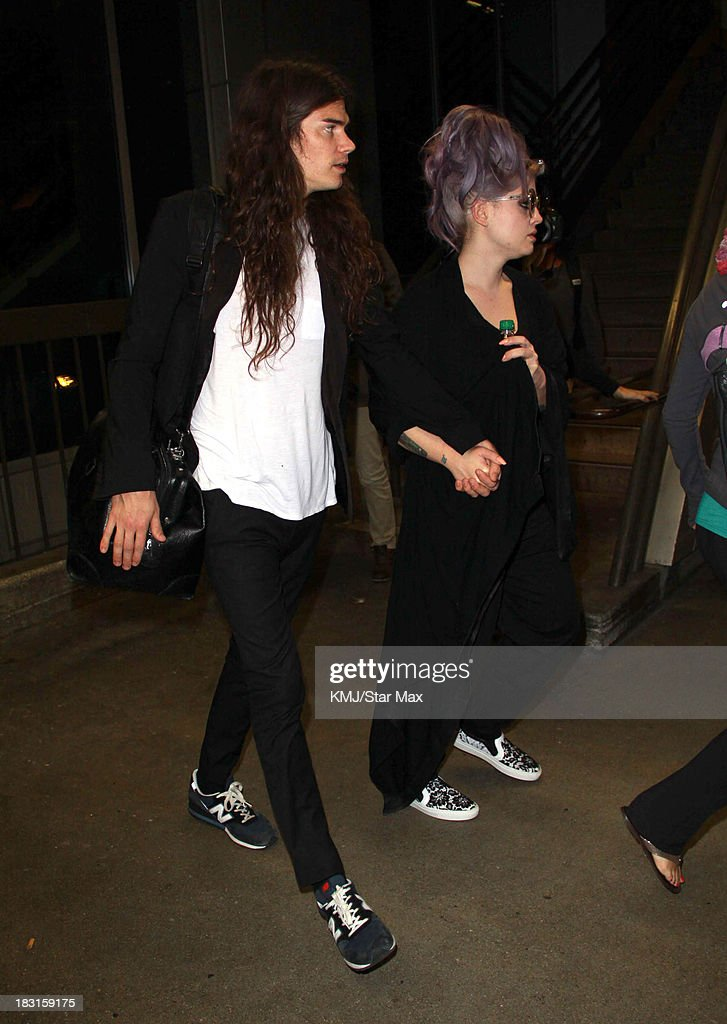 <a gi-track='captionPersonalityLinkClicked' href=/galleries/search?phrase=Kelly+Osbourne&family=editorial&specificpeople=156416 ng-click='$event.stopPropagation()'>Kelly Osbourne</a> and Matthew Mosshart are seen on October 4, 2013 in Los Angeles, California.