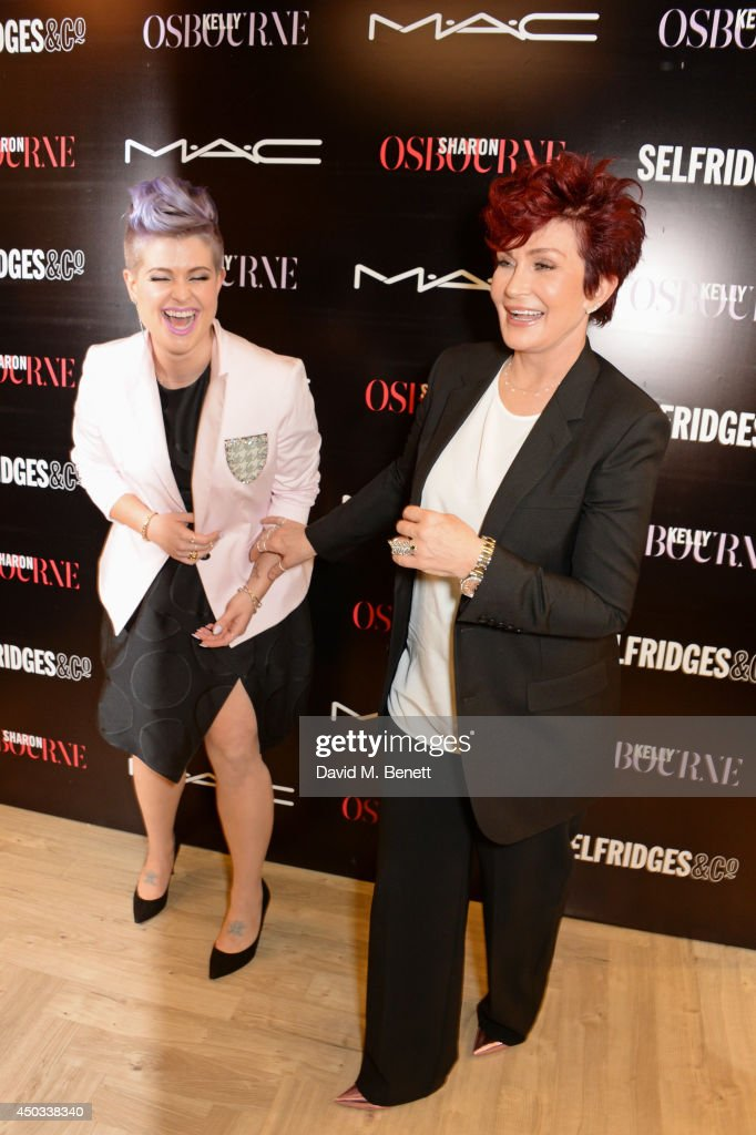<a gi-track='captionPersonalityLinkClicked' href=/galleries/search?phrase=Kelly+Osbourne&family=editorial&specificpeople=156416 ng-click='$event.stopPropagation()'>Kelly Osbourne</a> (L) and <a gi-track='captionPersonalityLinkClicked' href=/galleries/search?phrase=Sharon+Osbourne&family=editorial&specificpeople=203094 ng-click='$event.stopPropagation()'>Sharon Osbourne</a> pose at a photocall to celebrate their M.A.C collaboration launching today and the Selfridges Beauty Project at M.A.C On 3 in Selfridges on June 9, 2014 in London, England.