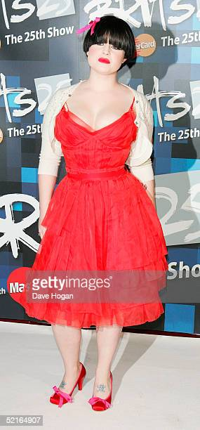 Kelly Osbourne arrive at the 25th Anniversary BRIT Awards 2005 at Earl's Court February 9 2005 in London