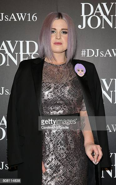 Kelly Osbourne arrives ahead of the David Jones Autumn/Winter 2016 Fashion Launch at David Jones Elizabeth Street Store on February 3 2016 in Sydney...