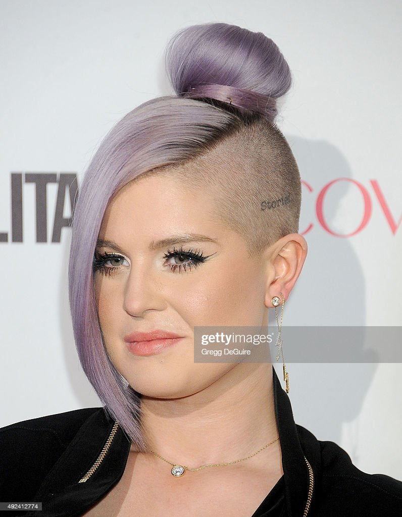 Kelly Osbourne arrives at Cosmopolitan Magazine's 50th Birthday Celebration at Ysabel on October 12 2015 in West Hollywood California