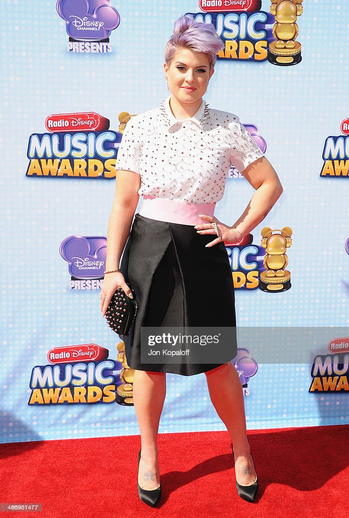 Kelly Osbourne arrives at the 2014 Radio Disney Music Awards at Nokia Theatre LA Live on April 26 2014 in Los Angeles California