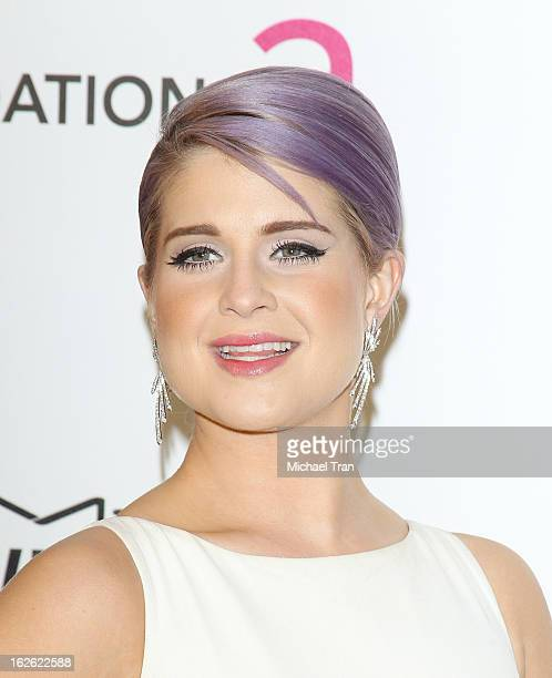 Kelly Osbourne arrives at the 21st Annual Elton John AIDS Foundation Academy Awards viewing party held at West Hollywood Park on February 24 2013 in...