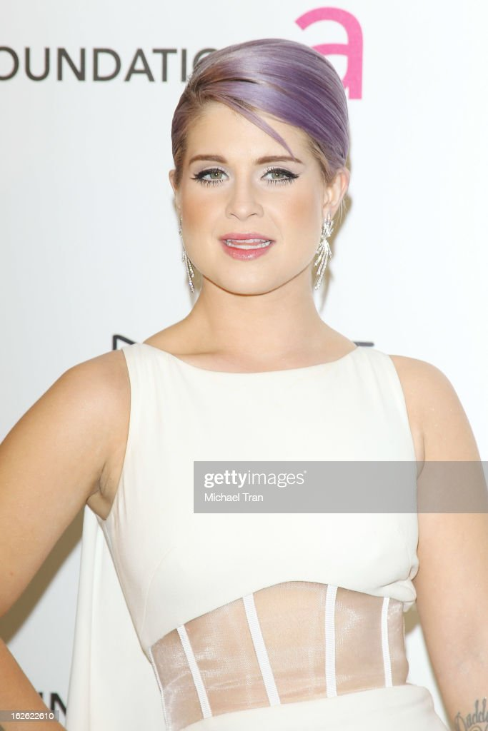 <a gi-track='captionPersonalityLinkClicked' href=/galleries/search?phrase=Kelly+Osbourne&family=editorial&specificpeople=156416 ng-click='$event.stopPropagation()'>Kelly Osbourne</a> arrives at the 21st Annual Elton John AIDS Foundation Academy Awards viewing party held at West Hollywood Park on February 24, 2013 in West Hollywood, California.