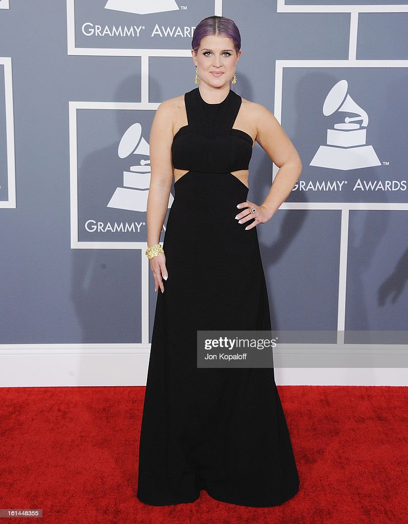 <a gi-track='captionPersonalityLinkClicked' href=/galleries/search?phrase=Kelly+Osbourne&family=editorial&specificpeople=156416 ng-click='$event.stopPropagation()'>Kelly Osbourne</a> arrives at The 55th Annual GRAMMY Awards at Staples Center on February 10, 2013 in Los Angeles, California.