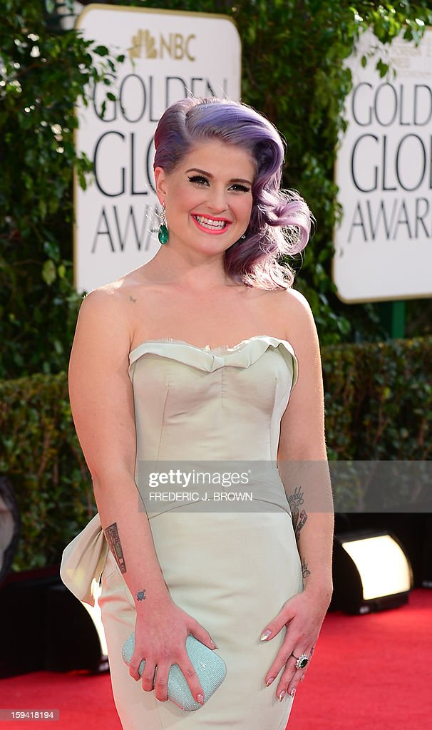 Kelly Osbourne arrives at the Golden Globes awards ceremony in Beverly Hills on January 13, 2013. AFP PHOTO / Frederic J. BROWN
