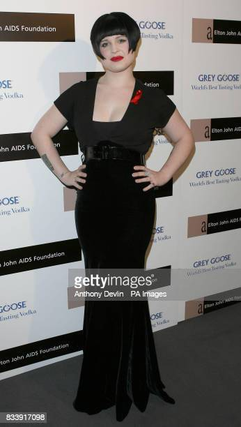 Kelly Osbourne arrives at the Grey Goose Vodka and The Elton John AIDS Foundation VIP launch party One Piazza Covent Garden London