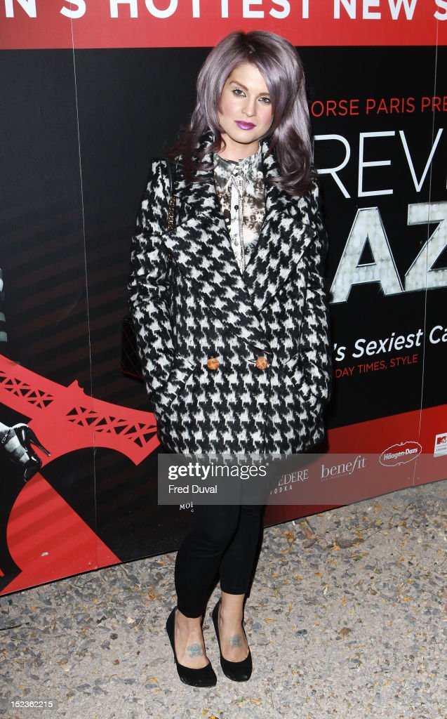 <a gi-track='captionPersonalityLinkClicked' href=/galleries/search?phrase=Kelly+Osbourne&family=editorial&specificpeople=156416 ng-click='$event.stopPropagation()'>Kelly Osbourne</a> attends as Crazy Horse bring their renowned cabaret show from Paris to London at The Crazy Horse on September 19, 2012 in London, England.