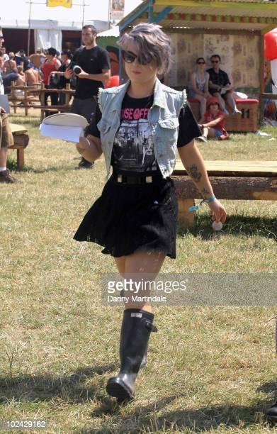 Kelly Osbourne attends Glastonbury Festival at Worthy Farm on June 26 2010 in Glastonbury England