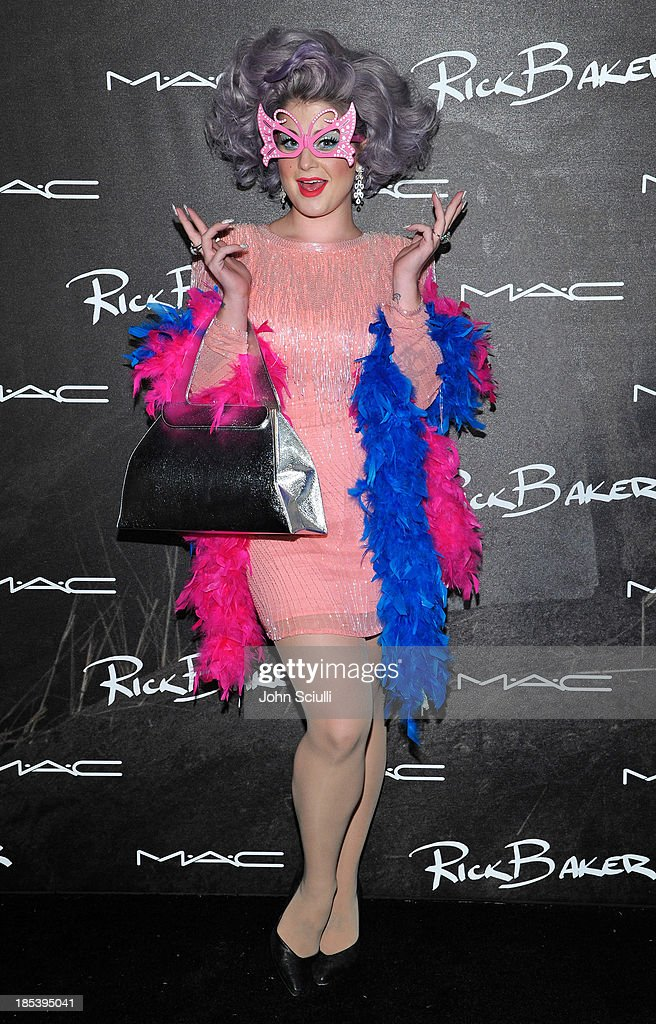 <a gi-track='captionPersonalityLinkClicked' href=/galleries/search?phrase=Kelly+Osbourne&family=editorial&specificpeople=156416 ng-click='$event.stopPropagation()'>Kelly Osbourne</a> attends MAC Cosmetics and Rick Baker's Monster Mash on October 19, 2013 in Glendale, California.
