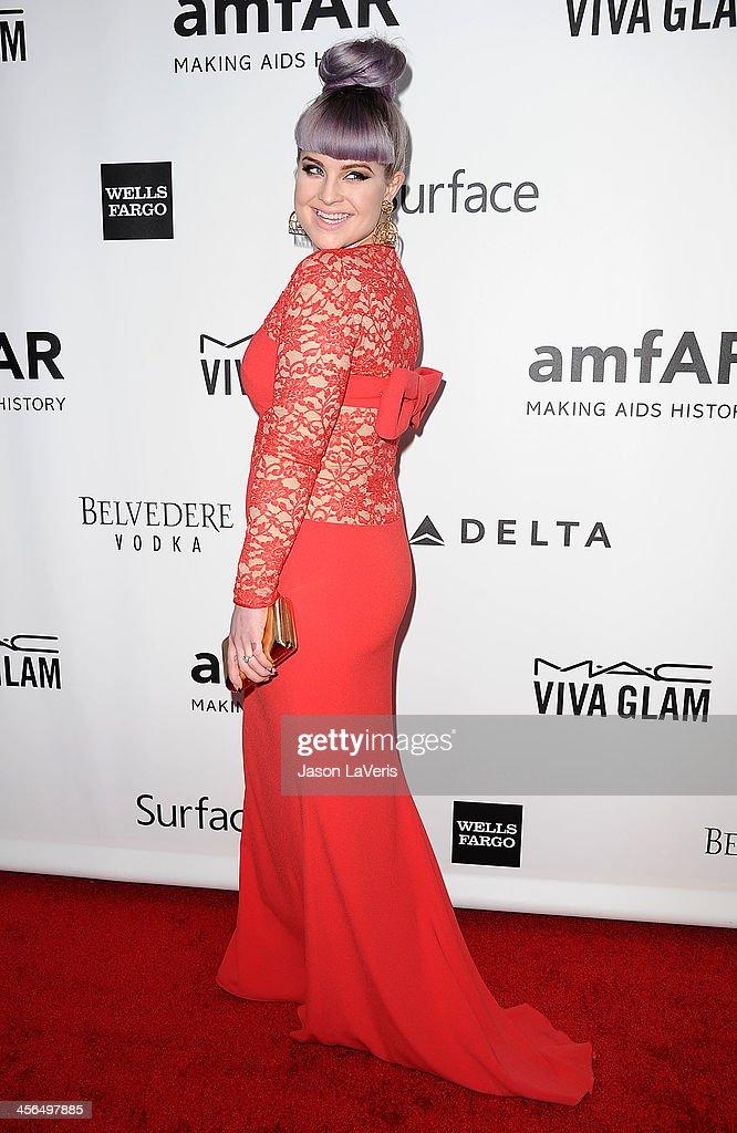 Kelly Osbourne attends the amfAR Inspiration Gala at Milk Studios on December 12, 2013 in Hollywood, California.