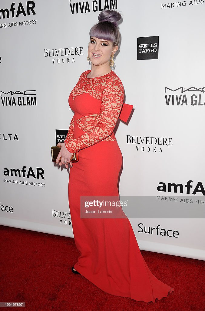 Kelly Osbourne attends the amfAR Inspiration Gala at Milk Studios on December 12, 2013 in Hollywood, California.