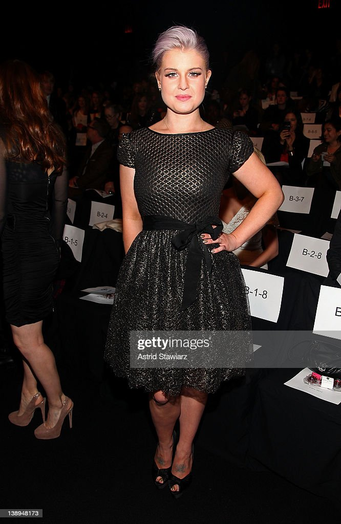 Kelly Osbourne attends the Badgley Mischka Fall 2012 fashion show during Mercedes-Benz Fashion Week at The Theatre at Lincoln Center on February 14, 2012 in New York City.