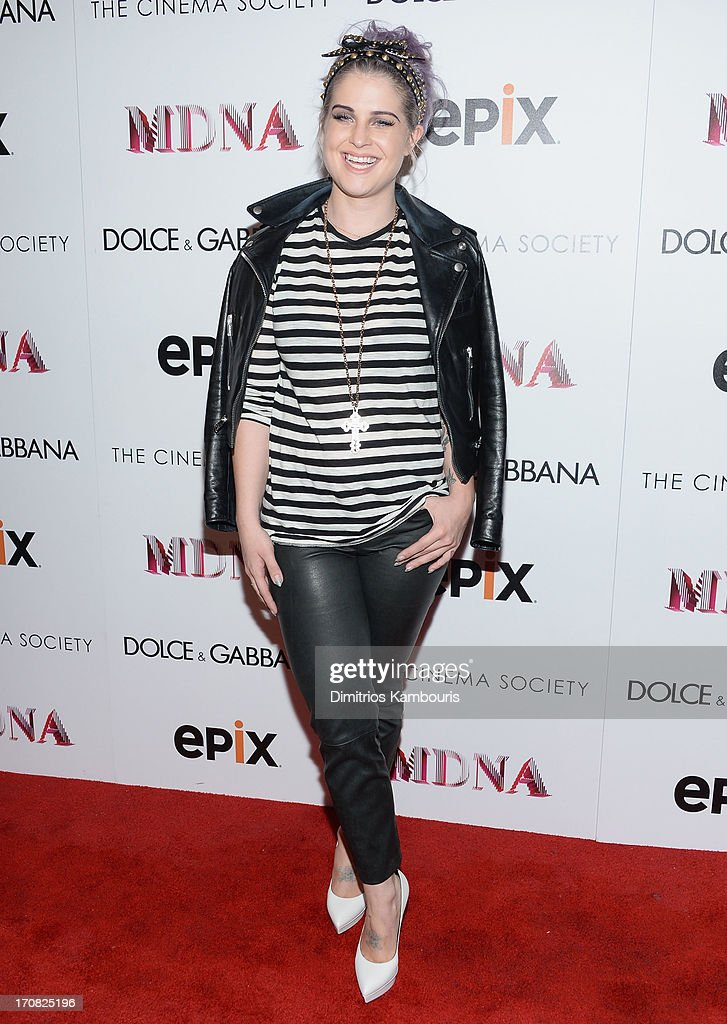 Kelly Osbourne attends the Dolce & Gabbana and The Cinema Society screening of the Epix World premiere of 'Madonna: The MDNA Tour' at The Paris Theatre on June 18, 2013 in New York City.