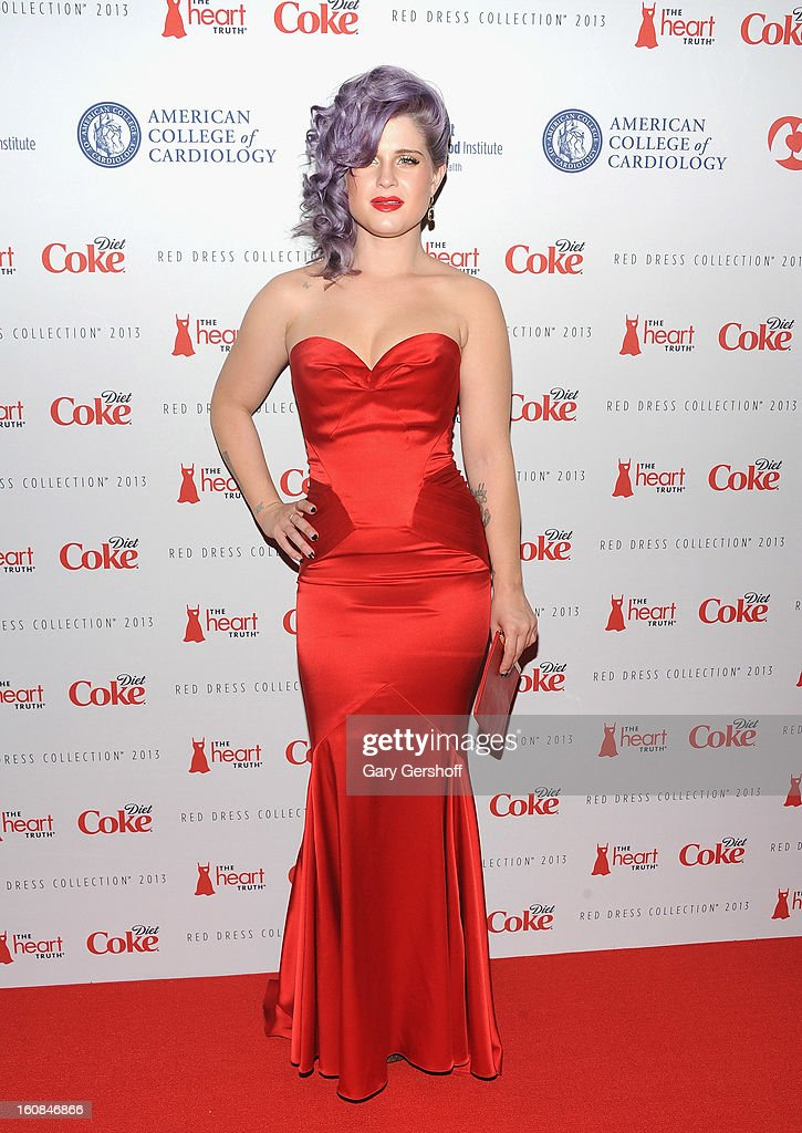 Kelly Osbourne attends The Heart Truth's Red Dress Collection during Fall 2013 Mercedes-Benz Fashion Week at Hammerstein Ballroom on February 6, 2013 in New York City.