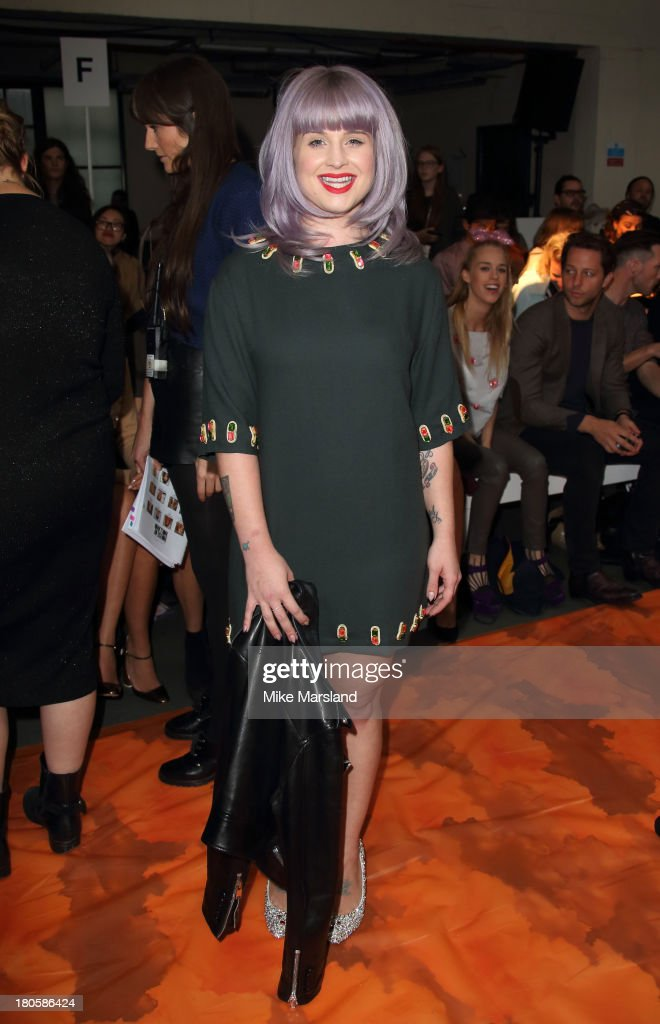 <a gi-track='captionPersonalityLinkClicked' href=/galleries/search?phrase=Kelly+Osbourne&family=editorial&specificpeople=156416 ng-click='$event.stopPropagation()'>Kelly Osbourne</a> attends the House Of Holland show at London Fashion Week SS14 on September 14, 2013 in London, England.