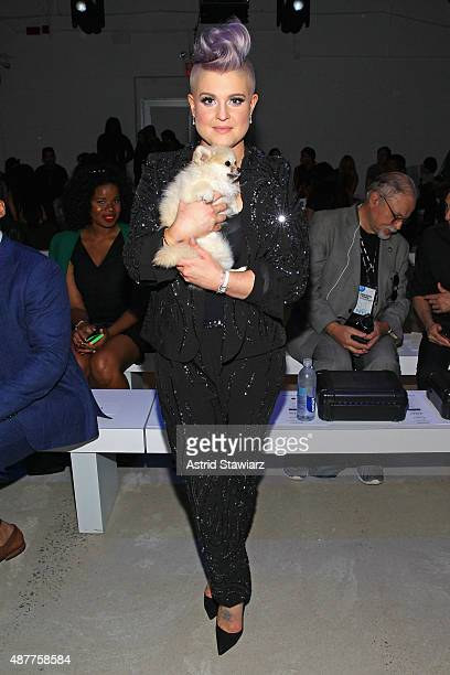 Kelly Osbourne attends the Idan Cohen fashion show during Spring 2016 New York Fashion Week The Shows at The Gallery Skylight at Clarkson Sq on...