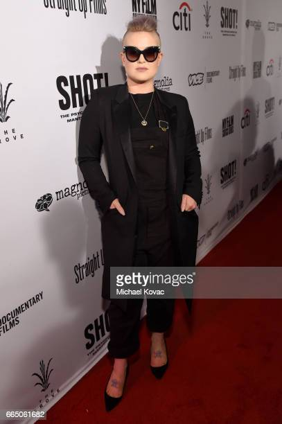 Kelly Osbourne attends the screening for 'SHOT The Psycho Spiritual Mantra of Rock' at The Grove presented by CITI on April 5 2017 in Los Angeles...