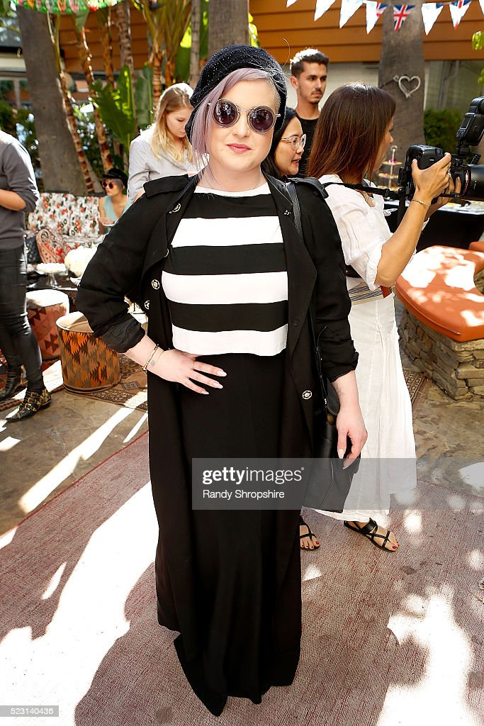 Kelly Osbourne attends the Villoid garden tea party hosted by Alexa Chung at the Hollywood Roosevelt Hotel on April 21, 2016 in Hollywood, California.