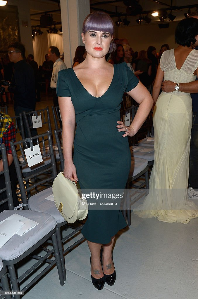 <a gi-track='captionPersonalityLinkClicked' href=/galleries/search?phrase=Kelly+Osbourne&family=editorial&specificpeople=156416 ng-click='$event.stopPropagation()'>Kelly Osbourne</a> attends the Zac Posen fashion show during Mercedes-Benz Fashion Week Spring 2014 at Center 548 on September 8, 2013 in New York City.