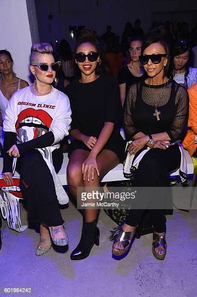 Kelly Osbourne Bella Harris and Lisa Harris attend the Namilia fashion show during New York Fashion Week September 2016 at The Gallery Skylight at...