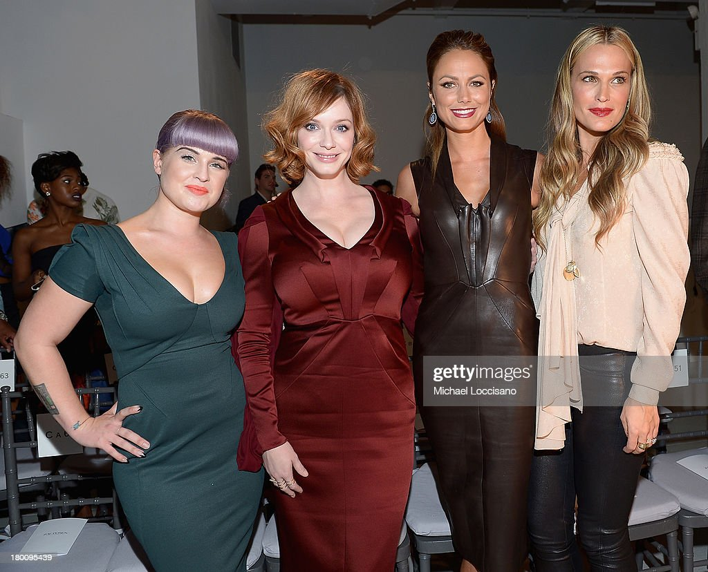 <a gi-track='captionPersonalityLinkClicked' href=/galleries/search?phrase=Kelly+Osbourne&family=editorial&specificpeople=156416 ng-click='$event.stopPropagation()'>Kelly Osbourne</a>, <a gi-track='captionPersonalityLinkClicked' href=/galleries/search?phrase=Christina+Hendricks&family=editorial&specificpeople=2239736 ng-click='$event.stopPropagation()'>Christina Hendricks</a>, <a gi-track='captionPersonalityLinkClicked' href=/galleries/search?phrase=Stacy+Keibler&family=editorial&specificpeople=3031844 ng-click='$event.stopPropagation()'>Stacy Keibler</a> and <a gi-track='captionPersonalityLinkClicked' href=/galleries/search?phrase=Molly+Sims&family=editorial&specificpeople=202547 ng-click='$event.stopPropagation()'>Molly Sims</a> attend the Zac Posen fashion show during Mercedes-Benz Fashion Week Spring 2014 at Center 548 on September 8, 2013 in New York City.