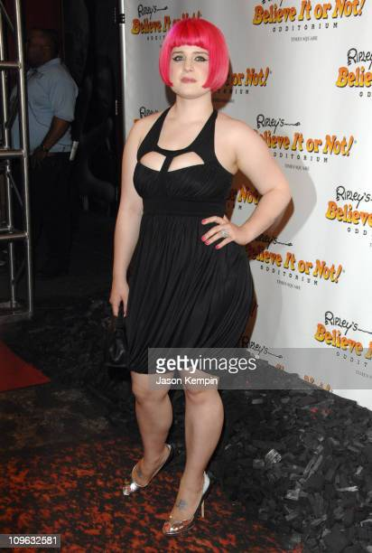 Kelly Osbourne during 'Ripley's Believe It Or Not' Celebration Opening Arrivals at Ripley's Times Square in New York City New York United States