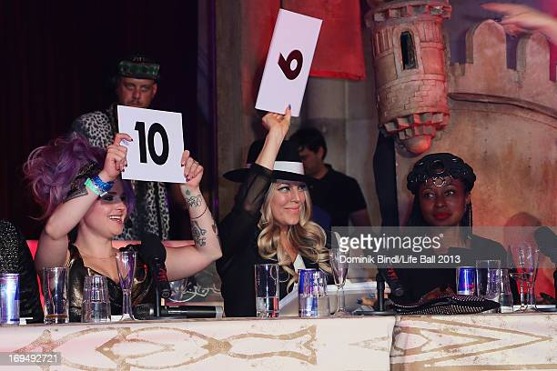Kelly Osbourne Fergie and Fatima Robinson seen being judges during the Voguing Ball Contest at the 'Life Ball 2013 After Show Party' at City Hall on...