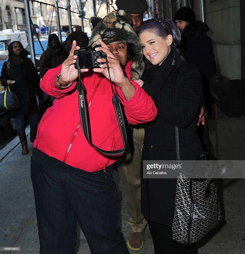 Kelly Osbourne is seen in Chelsea on February 4, 2013 in New York City.