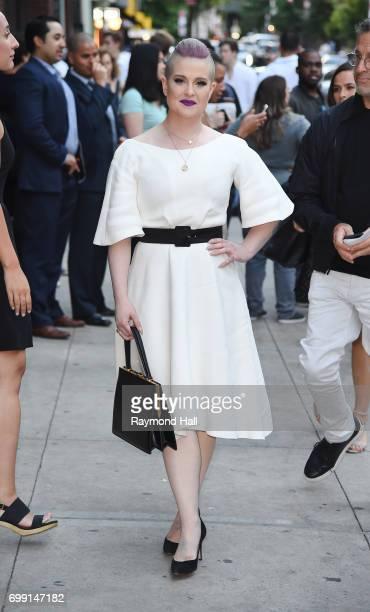 Kelly Osbourne is seen in walking in Soho on June 20 2017 in New York City