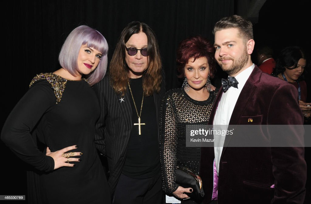 Kelly Osbourne Ozzy Osbourne Sharon Osbourne and Jack Osbourne attend the 56th GRAMMY Awards at Staples Center on January 26 2014 in Los Angeles...