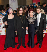 Kelly Osbourne Ozzy Osbourne Sharon Osbourne and Jack Osbourne attent the Pride of Britain awards at The Grosvenor House Hotel on September 28 2015...