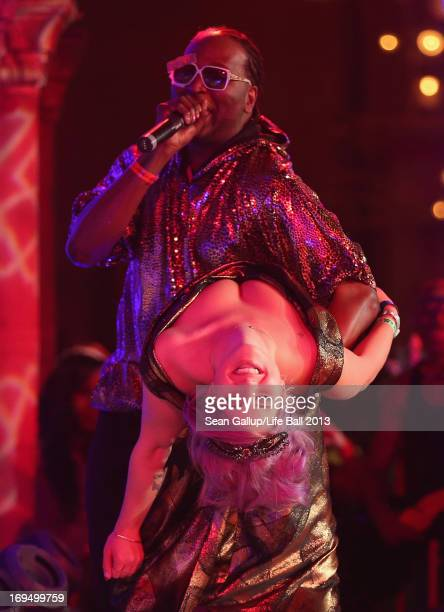 Kelly Osbourne performs at the Fergie show of the Black Eyed Peas at the after show party at the 2013 Life Ball at city hall on May 25 2013 in Vienna...