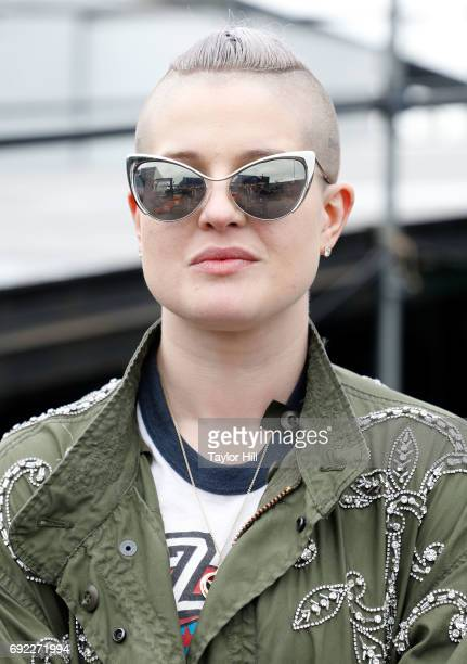 Kelly Osbourne poses backstage after attending The Orwells during 2017 Governors Ball Music Festival Day 3 at Randall's Island on June 4 2017 in New...