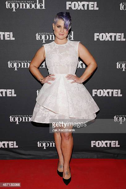 Kelly Osbourne poses for the announcement that she'll be Australia's Next Top Model guest judge at the film set in Surry Hills on October 13 2014 in...