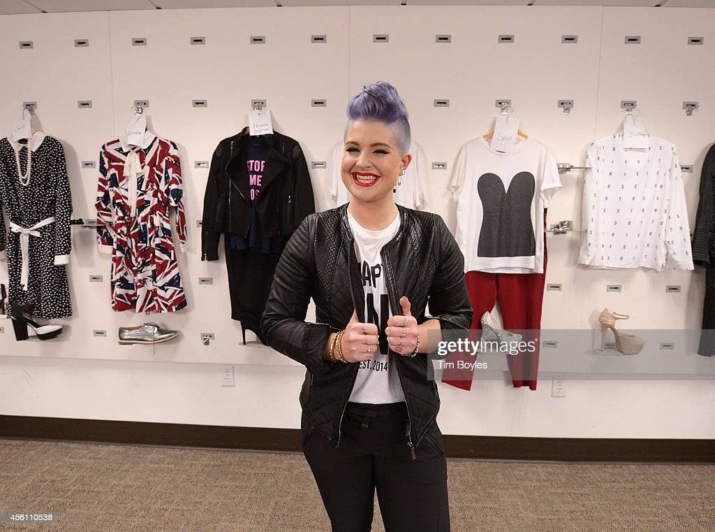 Kelly Osbourne prepares to launch her new clothing line 'Storiesby Kelly Osbourne' at the HSN Studios on September 25 2014 in St Petersburg Florida...