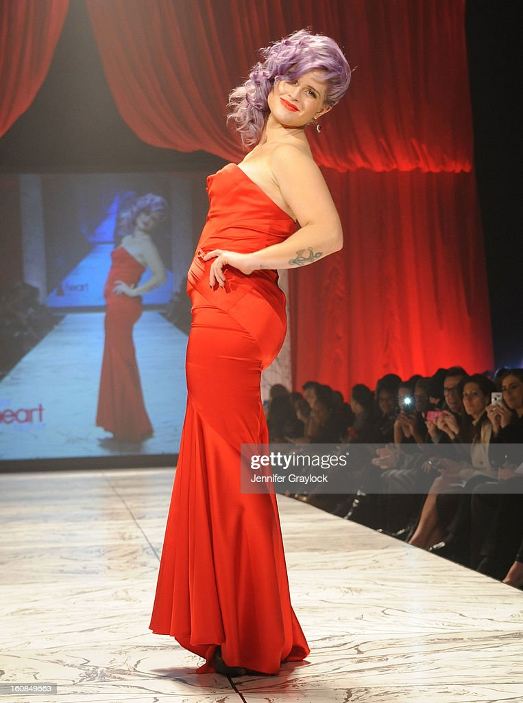 Kelly Osbourne wearing L Spoke on the runway during The Heart Truth 2013 Fashion Show held at the Hammerstein Ballroom on February 6, 2013 in New York City.