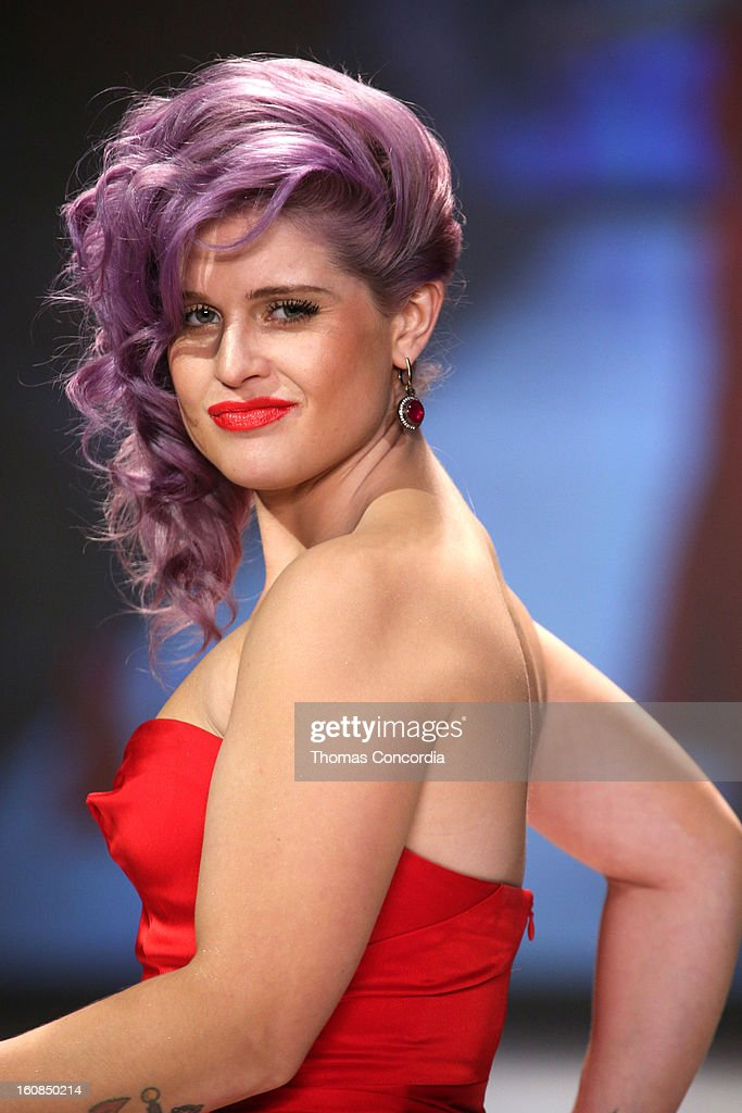 <a gi-track='captionPersonalityLinkClicked' href=/galleries/search?phrase=Kelly+Osbourne&family=editorial&specificpeople=156416 ng-click='$event.stopPropagation()'>Kelly Osbourne</a> wearing Zac Posen walks the runway at The Heart Truth's Red Dress Collection during Fall 2013 Mercedes-Benz Fashion Week at Hammerstein Ballroom on February 6, 2013 in New York City.